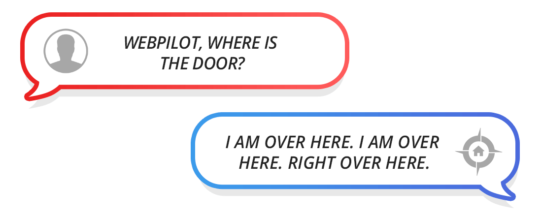 speech bubble door example